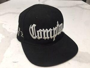 d04b61ecc3873 Vintage Compton Hat Eazy E Cap Snapback NWA RIP Raiders black ...