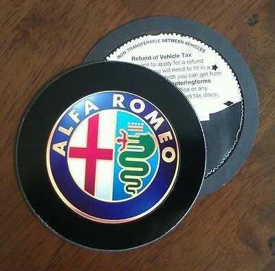 Magnetic Tax disc holder fits any alfa romeo free postage bka