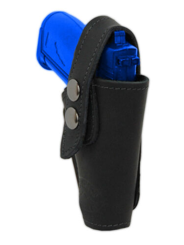 Barsony OWB Black Leather Belt Clip Holster for Cobra EAA Bryco Mini 22 25 380