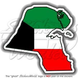 Details about KUWAIT Kuwaiti Map-Flag, Arabian, Arabic Bumper Sticker