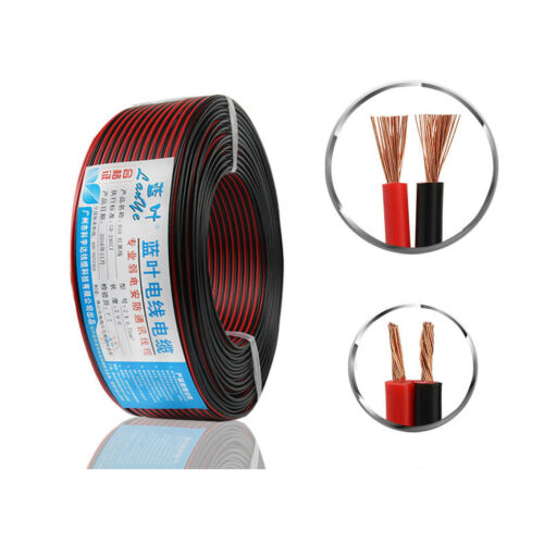 2 Core Extension Flex Cable Electric Wire Red//Black,Home Lighting Lamp LED Wire