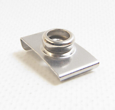 4pieces 304 Stainless Steel Marine Boat Hook Holder Clips 5//8inch to 1inch Tube