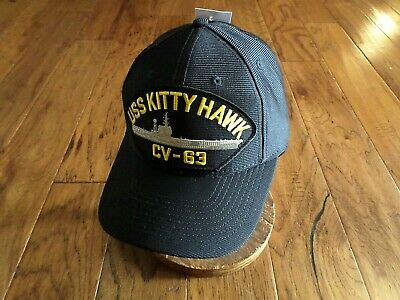 Red USS Kitty Hawk CV-63 Embroidered Baseball Cap