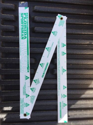 Lot Of 2-Florida Sportsman Lawstick  Edition 01//16 Jointed Fishing Rulers Guide