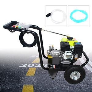 7.5HP 4-Takt-Gas-Benzinmotor-Kaltwasser-Hochdruckreiniger mit Spritzpistole DHL