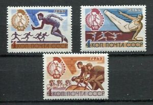 28866) Russia 1965 MNH New Spartacist Uprising Games 3v