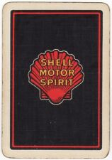 Playing Cards 1 Single Swap Card - Old Wide SHELL MOTOR SPIRIT Seashell Advert