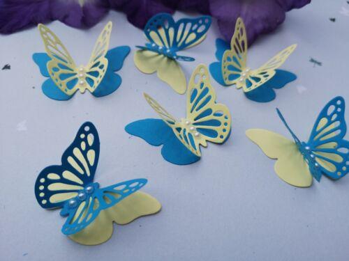 15x 3D papier papillons Anniversaire Mariage Bridal Shower Fête Décoration de Table