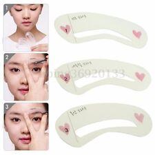 3 Sopracciglia Eyebrow Stencils Grooming Riutilizzabile Make Up Stencil Shaping