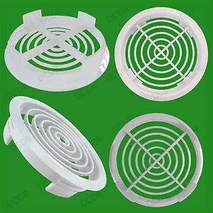 100x trous blancs de ventilation d'aération ronde de fitarium de reptile de Vivarium blanc 80mm trou de 70mm, ventilation