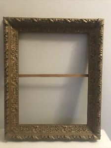 Antique-Victorian-Picture-Frame-Ornate-Wood-Plaster-Gold-Gilt-25-5-034-x-20-5-034