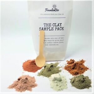 Sampler-Pack-Natural-Healing-Clay-Powder-Face-Body-Beauty-Pink-Green-Rhassoul