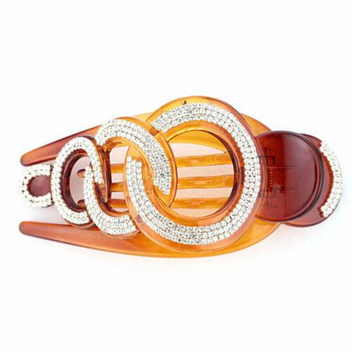 Elegant Full Crystal Women Hair Clip Hairpin Rhinestone Clamp Claw Headwear SK