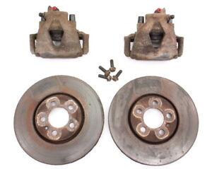Front-Brake-Calipers-and-Rotors-Set-93-99-VW-Jetta-GTI-VR6-MK3-5x100-Genuine