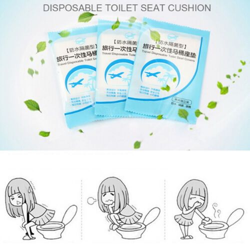 10pcs Disposable Clean Toilet Seat Covers Flushable Camping Festival Travel A Al
