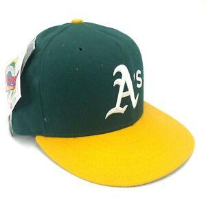 New-Era-Oakland-Athletics-A-039-s-5950-pro-Modelo-Fitted-Gorra-Verde-Amarillo-Logo-A