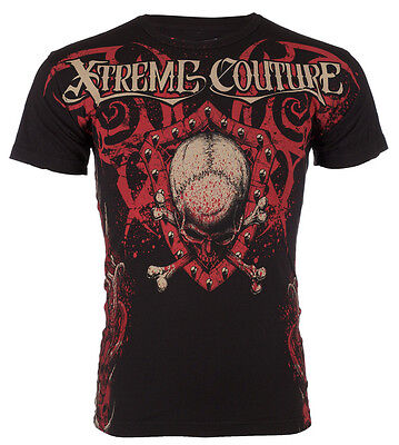 Xtreme Couture AFFLICTION Mens T-Shirt AMAZON Skulls Tattoo Biker UFC M-4XL $40