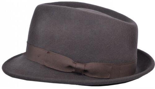 Hommes ou Femmes 100/% Laine Chapeau Mou avec Gros-Grain Bande Fedora Panama Type