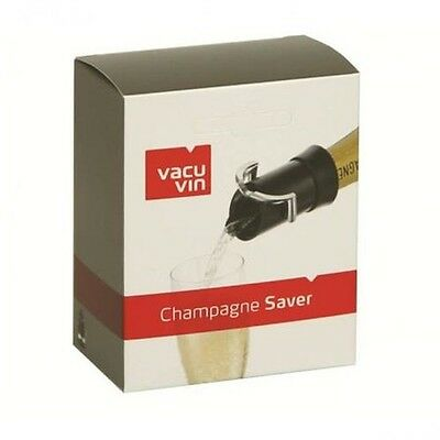 Vacu Vin Champagne Saver with Pouring Spout - Black