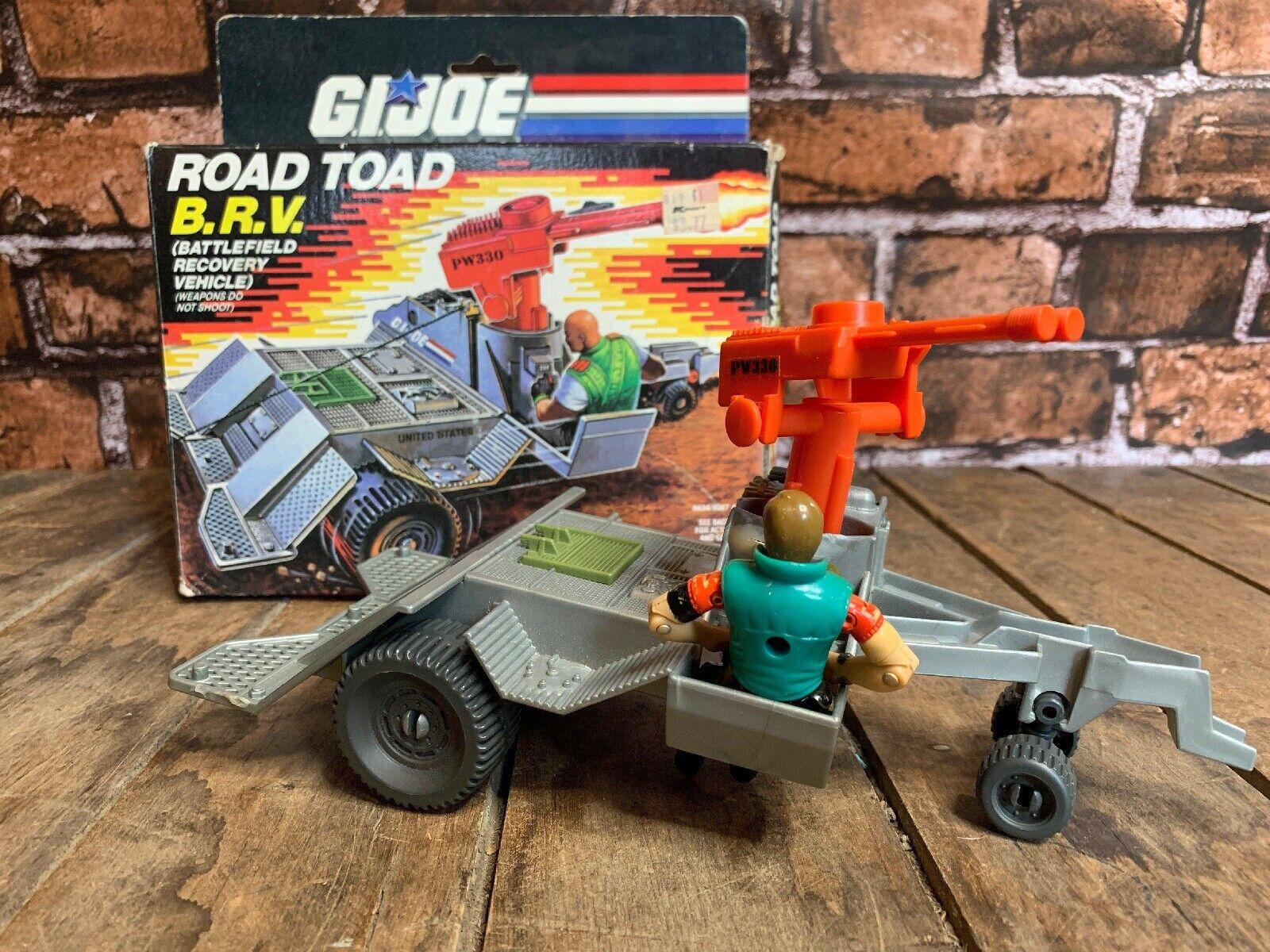 1987 GI Joe strada Toad B. R. V. Battlefield Recovery  Vehicle & Law azione cifra  senza esitazione! acquista ora!