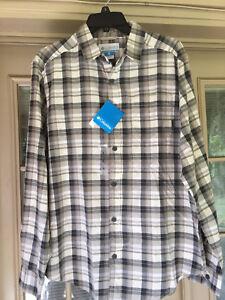 NWT Men/'s Columbia Steeple Ridge™ Plaid Long Sleeve Plaid  Shirt Size S Small