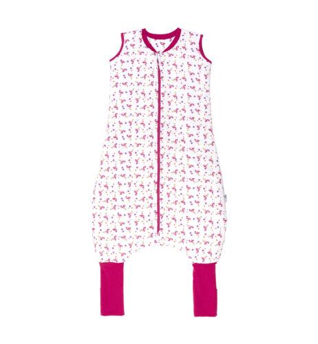 Schlummersack Schlafsack mit Beinen 2.5 Tog Flamingo in 80 90 120cm 110 100