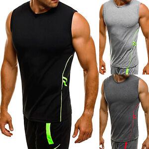 ba541ef4b81d9 Men's Muscle Tank Tops Bodybuilding Gym Running Sleeveless Vest T ...
