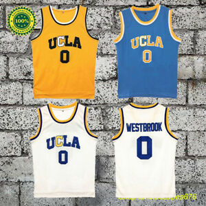 new styles 1b7cb e60ea Details about Russell Westbrook 0 UCLA Bruins Throwback Swingman Movie  Basketball Jersey