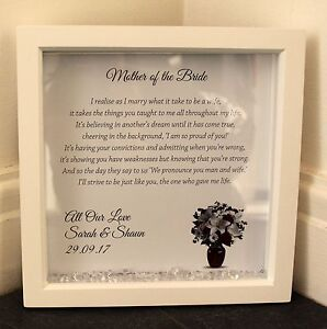 Image Is Loading Personalised Box Frame Wedding Mother Of The Bride