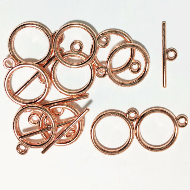 50 sets of Rose Gold finished smooth Toggle clasps, bulk toggle clasp
