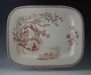AESTHETIC-NEW-WHARF-POTTERY-TENNYSON-LARGE-PLATTER-c-1884