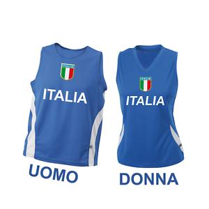 Canotta-Nazionale-Italiana-Running-Atletica-Uomo-amp-Donna