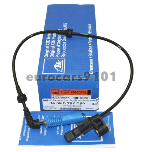 New BMW Z4 ATE Front Right ABS Wheel Speed Sensor 24-0711-5278-3 34526792896