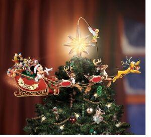 Disney Christmas Tree Topper Uk.Details About Disney Timeless Tree Topper Sleigh Reindeer Tinkerbell Mickey Goofy