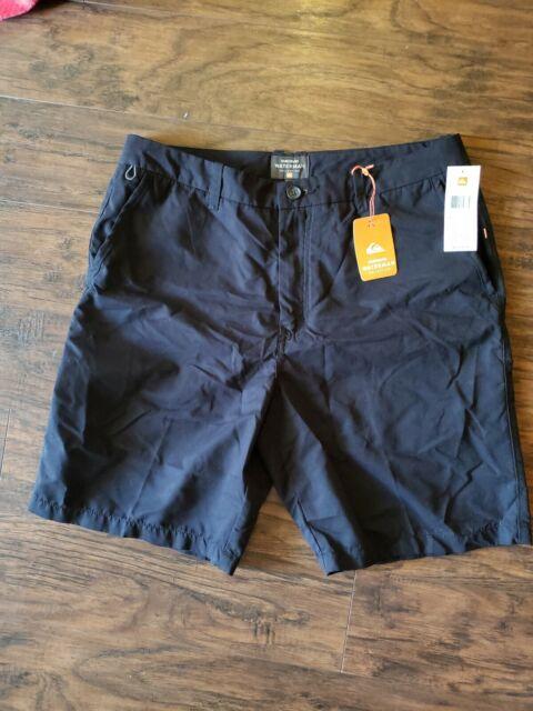 Black Quiksilver Waterman Maldive Chino Shorts New