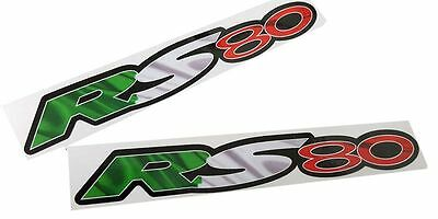 Aprilia RS 80 Motorcycle graphics stickers decals x 2PCS Italian colours