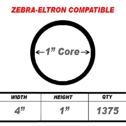 """15 Rolls 1375 Labels 4x1 4/"""" x 1/"""" Direct Thermal Zebra Eltron Labels LP2844 LP244"""