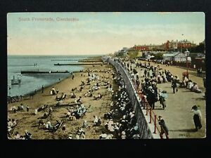 Lincolnshire-CLEETHORPES-South-Promenade-c1912-Postcard-by-Valentine