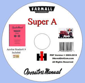 farmall super a   av owners manual ebay farmall super a service manual pdf farmall super a repair manual