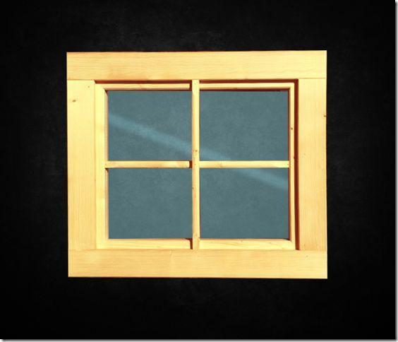 Fenster Holzfenster Gartenhaus Gartenhausfenster Carportfenster Garage NEU