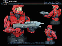 Microsoft X Box Halo Red Spartan 6 Video Game Figure Bust, Sealed & Boxed