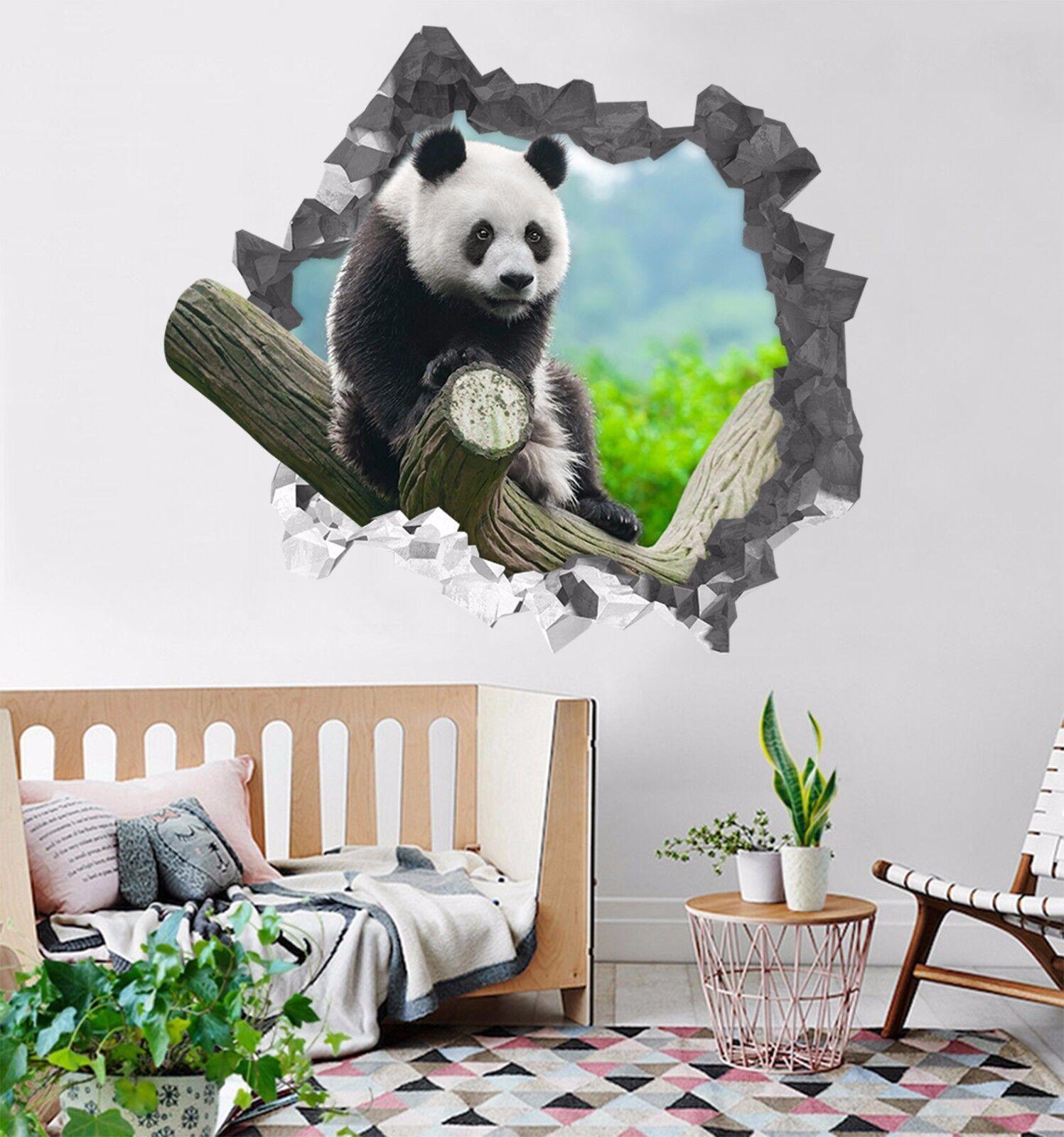 3D Panda 559 Mauer Murals Aufklebe Decal Durchbruch AJ WALLPAPER DE Lemon