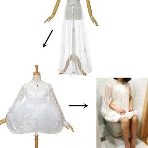 Bridal Toilet Petticoat Wedding Dress Buddy Undergarment Slip Easy Bathroom Use