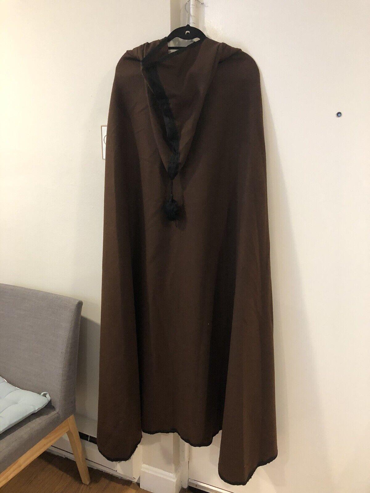Handmade Moroccan wool cloak Brown Cloak With Hoo… - image 4