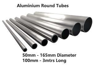 Details about Aluminium Round Tube 50mm 57mm 63mm 65mm 75mm 100mm 165mm 2