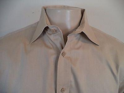 Lumo Men/'s Striped Long Sleeve Dress Shirt Ivory 16 1//2 34//35 267A