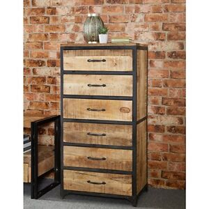 Image Is Loading Saturn 100 Reclaimed Wood Furniture Tall 6 Drawer