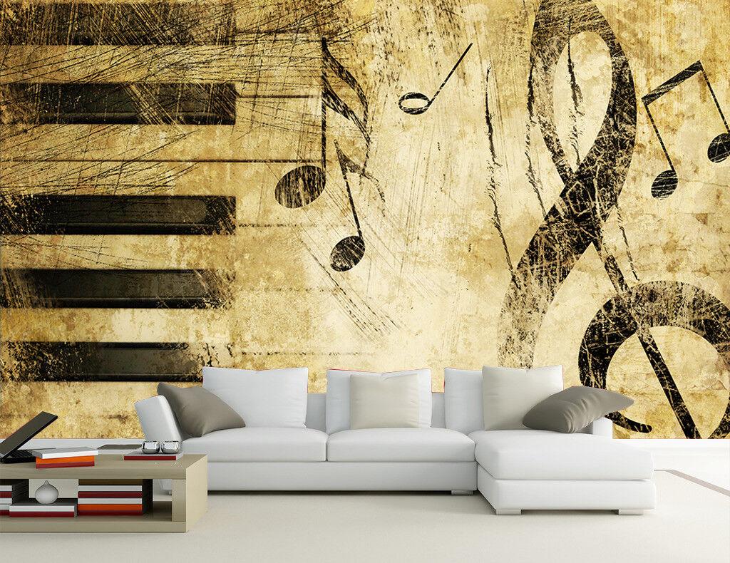3D Klaviernoten 73 Tapete Wandgemälde Tapete Tapeten Bild Familie DE  | Moderater Preis  | Günstigstes  | Nutzen Sie Materialien voll aus