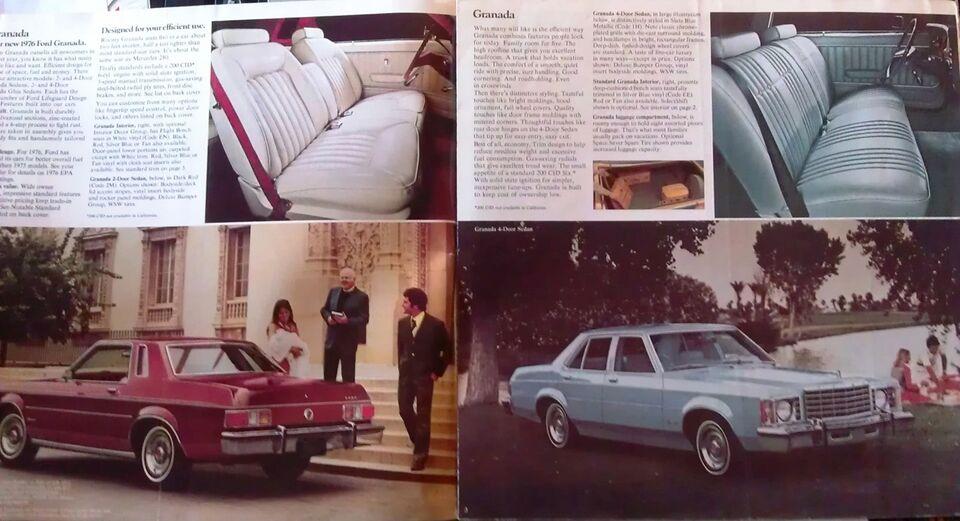Brochure 1976 Ford Granada., Ford, emne: bil og motor