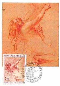 Carte-Maximum-FDC-France-Charles-Lebrun-avril-1973-a-PARIS